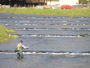 rybaření pod přehradou