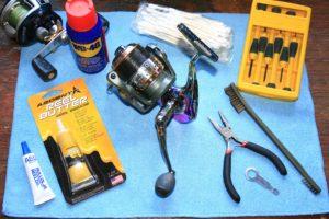 péče o rybářské navijáky